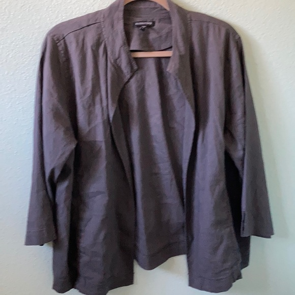 Eileen Fisher Jackets & Blazers - Eileen fisher layering light jacket do grey sz L
